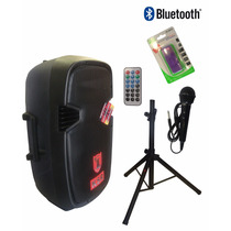Bafle Biamplificado 3500w Ksr Usb Fm Bluetooth Tripie Y Mic