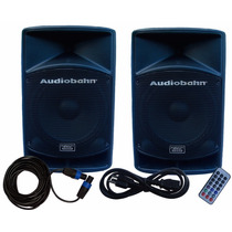 Combo De Bafles Audiobahn De 15 Con Bluetooth Y Fm