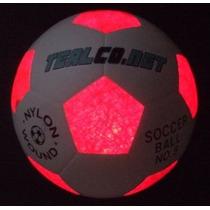 Balón De Fútbol De Tealco Light-up --iluminado Led Resplando