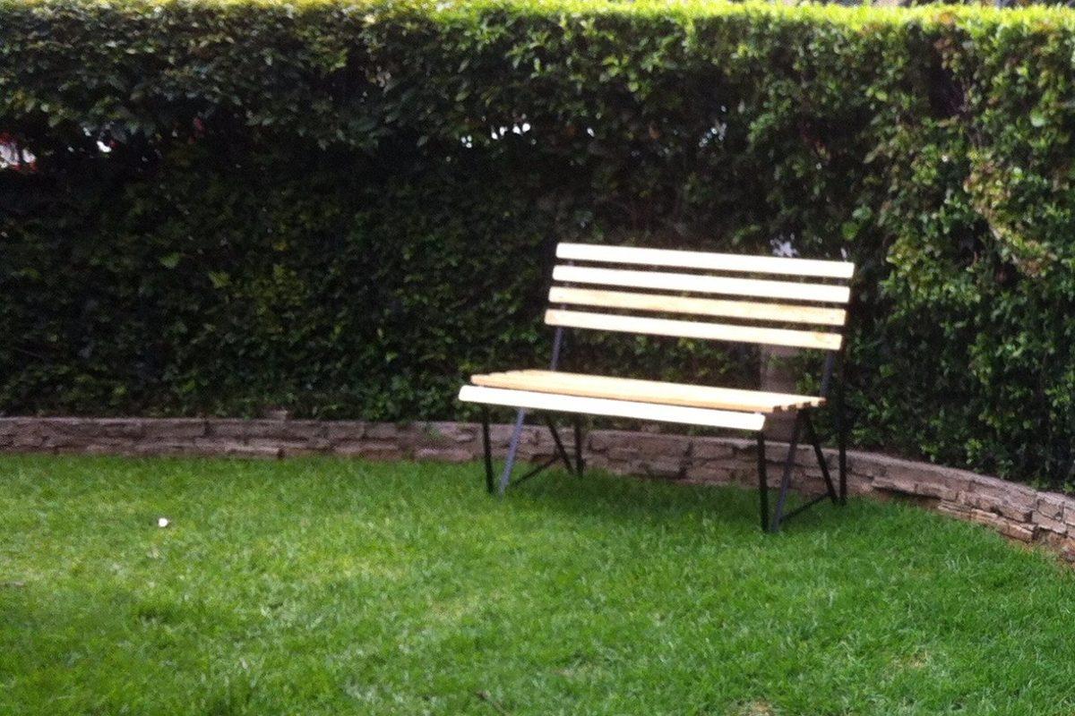 Banca jard n terraza balc n pasillo nueva 100 madera for Bancas de jardin de madera