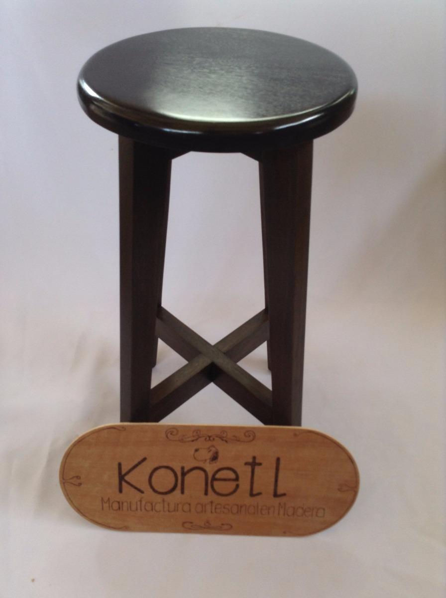 Banco para cocina o bar de madera s lida de banak konetl for Bar de madera mercadolibre