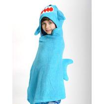 Toalla Para Niño Tiburón Azul