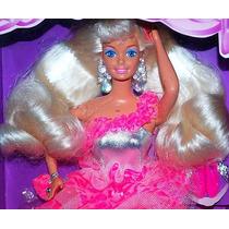 Barbie 3 Looks Pelo Platinado Hermoso Y Abundante
