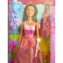 Barbie Parece Princesa Con Vestido Rosa