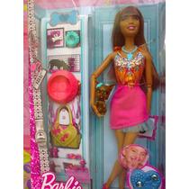 Barbie Fashionista Afroamericana Con Mascota Y Accesorios