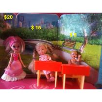 Accesorios Barbies, My Scene, Model, Perrito, Cepillos, Muñe