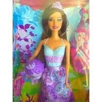 Barbie Princesa Morena Con Su Mascota