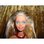 Barbie Rubia Vestido Rojo Hecha En Mexico A051 Mn4