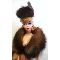 Barbie Silkstone Estola Y Sombrero Realfur Mink Pieza Unica