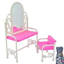 Tocador E-ting Moda Y Presidente De Barbies Muñecas Mobiliar