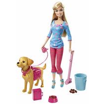 Barbie Entrenadora Viene Muñeca Y Mascota