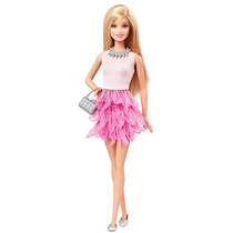 Barbie Fashionistas Muñeca Barbie Vestido Rosa Con Volantes