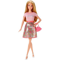 Barbie Fashionistas Muñeca Barbie Pink Dream Top Y Falda D