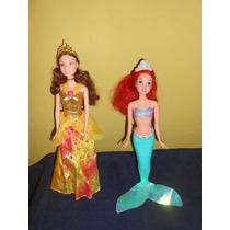 Lote 2 Barbie Princesas Aurora Y Ariel De Coleccion