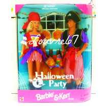 Barbie Y Ken De Cabello Largo Piratas Halloween