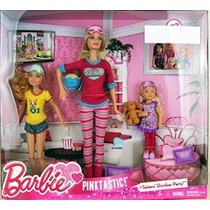 Barbie Pink-tastic Hermana La Fiesta De Pijamas