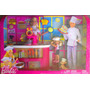 Barbie Y Kelly Gran Set De Chef Con Mobiliario Y Accesorios
