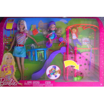 Barbie Y Kelly Gran Set De Parque Y Accesorios