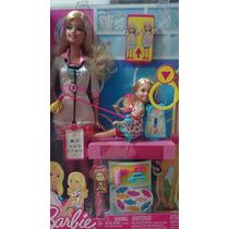 Barbie Doctora Pediatra, Con Kelly Que Crece