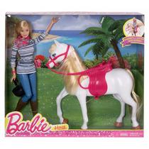 Muñeca Barbie Y Caballo Nuevo Blakhelmet Sp