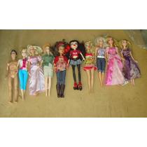 Lote De Barbies Bratz Princesas Disney