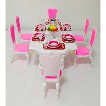 Barbie Tamaño Dollhouse Muebles-grand Dining Room Juego Set