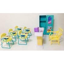 Barbie Tamaño Dollhouse Muebles - Aula Juego Set