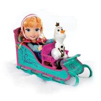 Frozen Disney Muñeca Anna Y Olaf Con Trineo Set