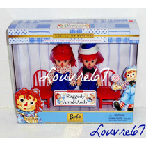 Barbie Collector Kelly Y Tommy Raggedy Ann Y Andy Louvre67