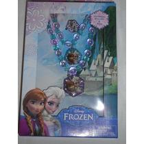Set De Joyeria Frozen Elsa, Anna Y Olaf! Disney