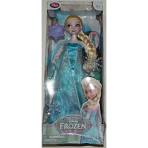 ### Disney Store Frozen Elsa Singing Doll Canta Y Luces ###