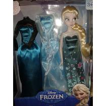 Set Frozen Elsa Con Tres Vestidos , Elsa Frozen Fever 2015