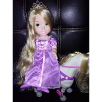 Set Rapunzel Articulada Y Maximus, Hermosos Cabello Precioso