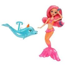 Barbie La Perla Princesa Sirena Muñeca Con Delfines