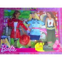 Set De Ropa Y Accesorios De Bombera Y Policia Para Barbie