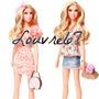 Juego De Ropa Y Bolso Para Barbie Stardoll Vestuario