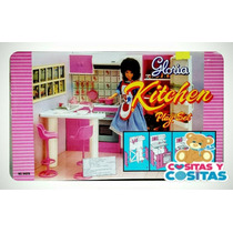 Mueble Para Casa De Muñecas Barbie Cocina Chica Envio Gratis