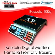 Bascula Digital 40 Kg Mettria- Detector De Billetes Falsos-