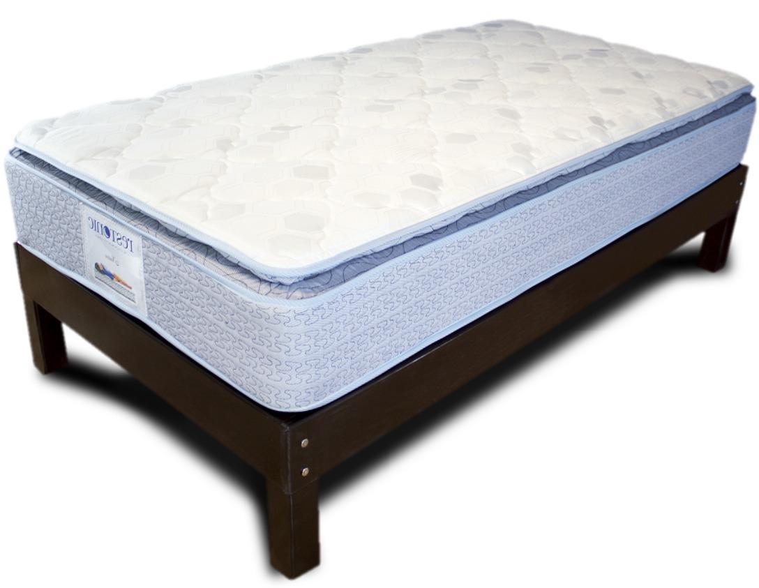 Base cama king size de madera con colch n tienda restonic for Cama king size de madera