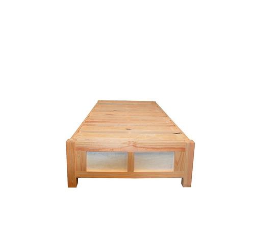 Base cama para colchon individual con cajones y zapatera for Base cama individual
