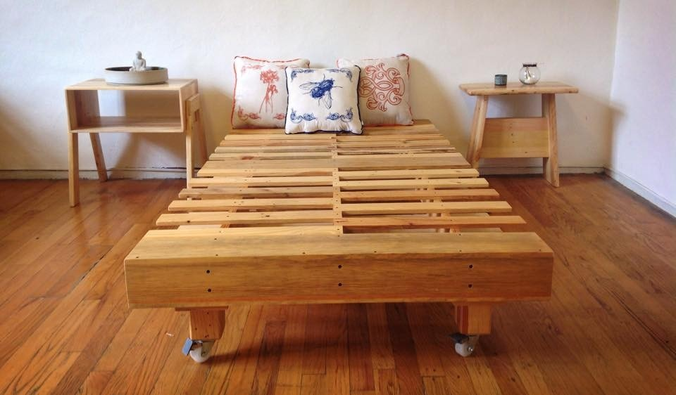 Base de madera para cama individual - Bases de camas de madera ...