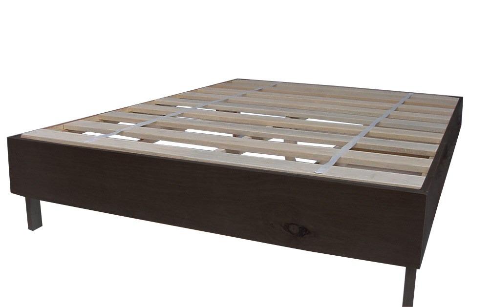 Base para cama en madera matrimonial individual o q s for Base cama individual