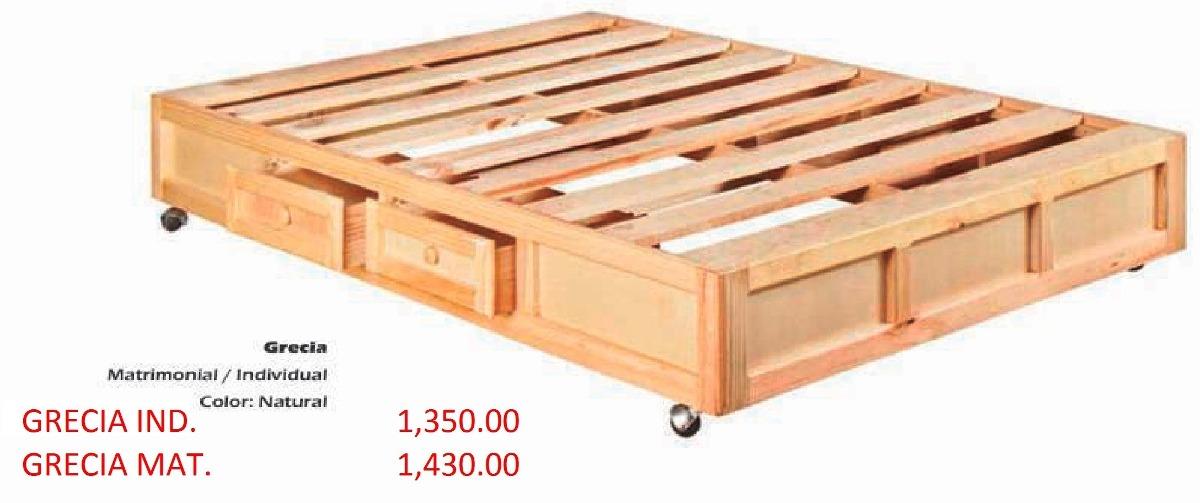 Base para cama modelo grecia individual 1 en for Base para cama individual precios
