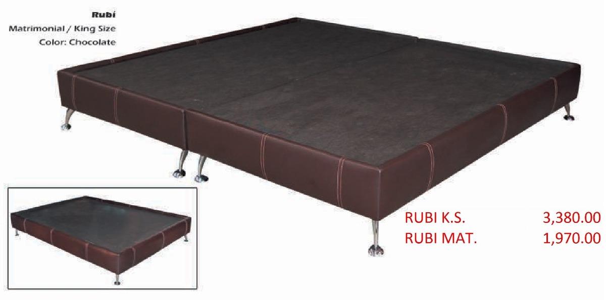 Base para cama modelo rubi matrimonial 1 en for Como hacer una base de cama matrimonial