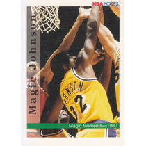 1992-93 Hoops Magic Moments 80 Magic Johnson Lakers