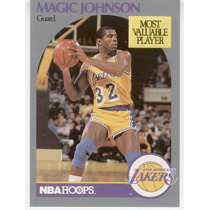 1990 - 91 Hoops Earvin Johnson Jr. Los Angeles Lakers Mvp