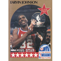 1990-91 Hoops All Star Earvin Magic Johnson Lakers