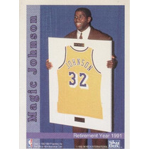 1992 Skybox Magic Johnson Retirement Year 1991