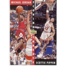1992 93 Upper Deck Scoring Threats Michael Jordan Pippen