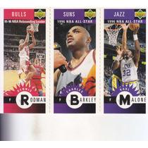 1996-97 Choice Mini Dennis Rodman Charles Barkley Karl Malon
